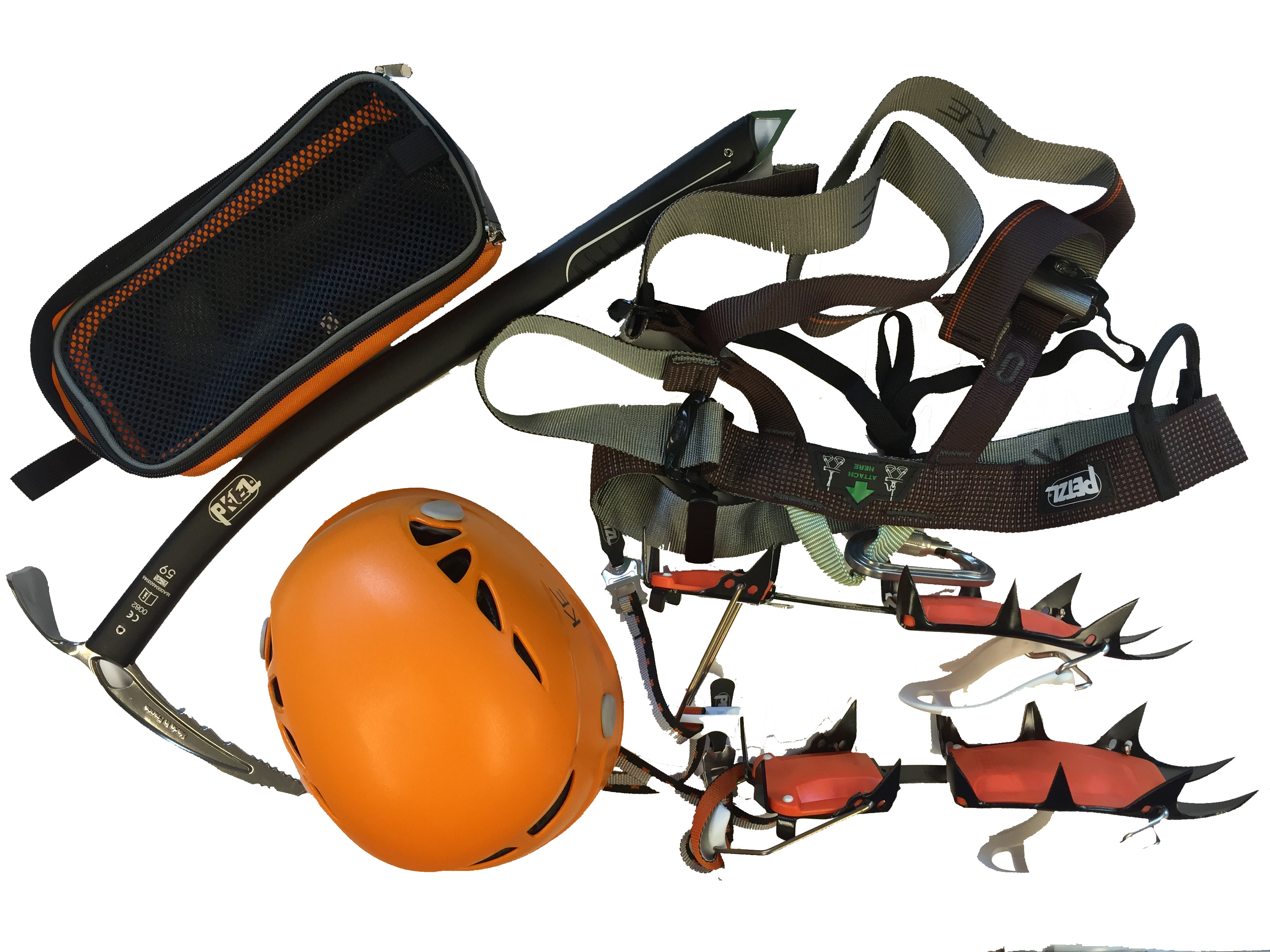 climbing equip white background