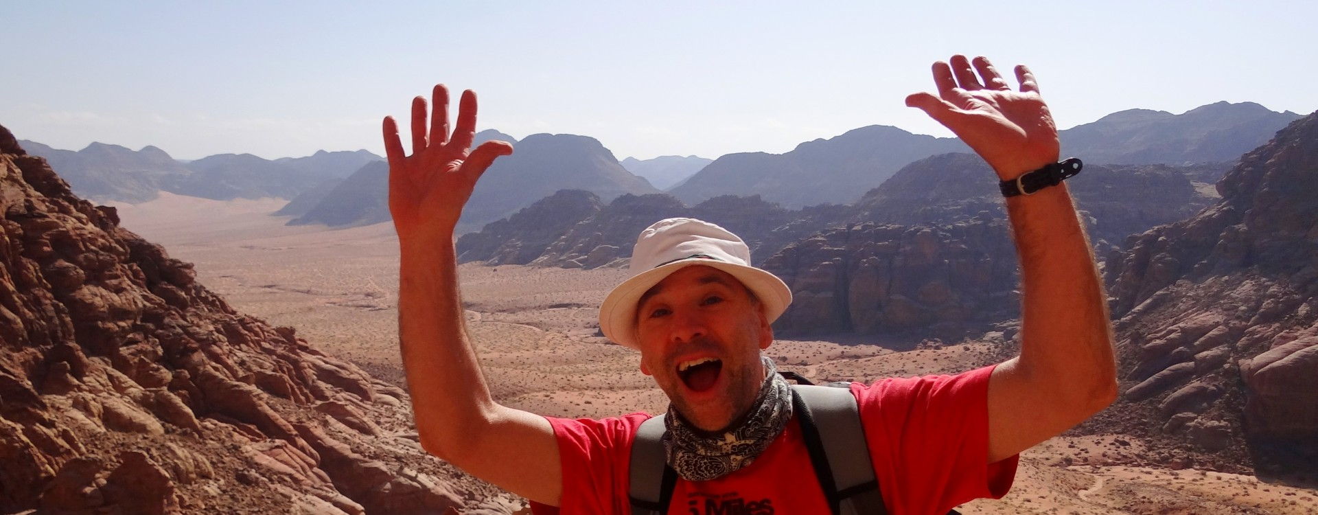 Hello Mum, I'm here in Wadi Rum