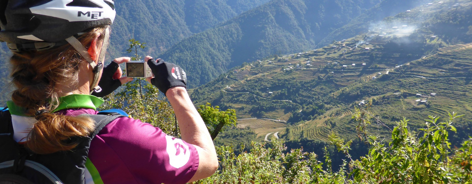 Photo stop on the ride across Bhutan