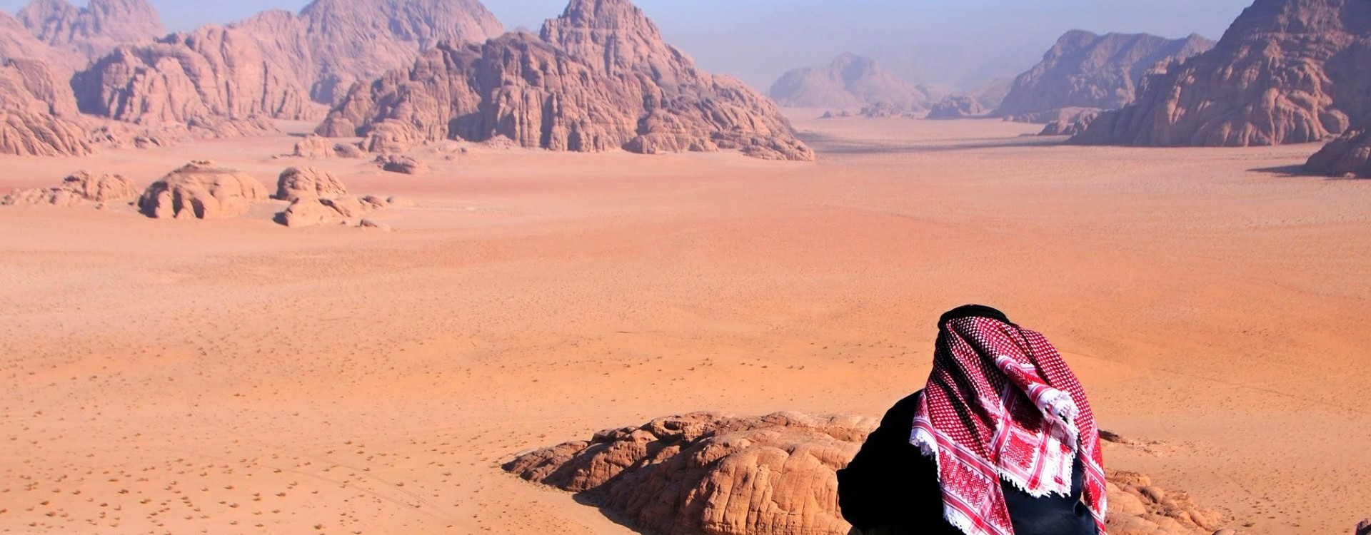 Enjoying the stunning views, Wadi Rum