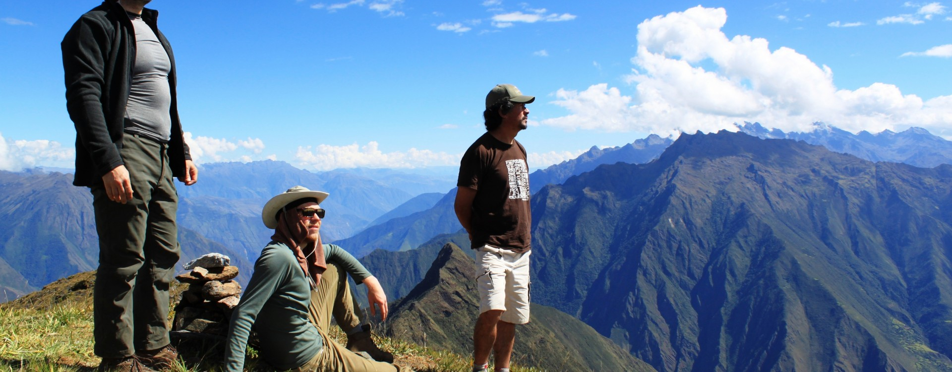 Enjoying the views on the Choquequirao Trail
