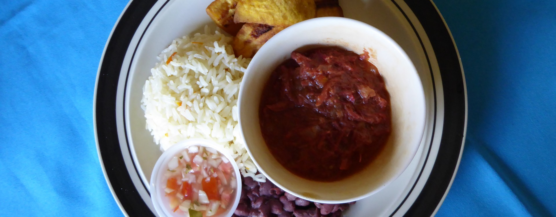 Nicaraguan Cuisine - Rice, beans and plantain