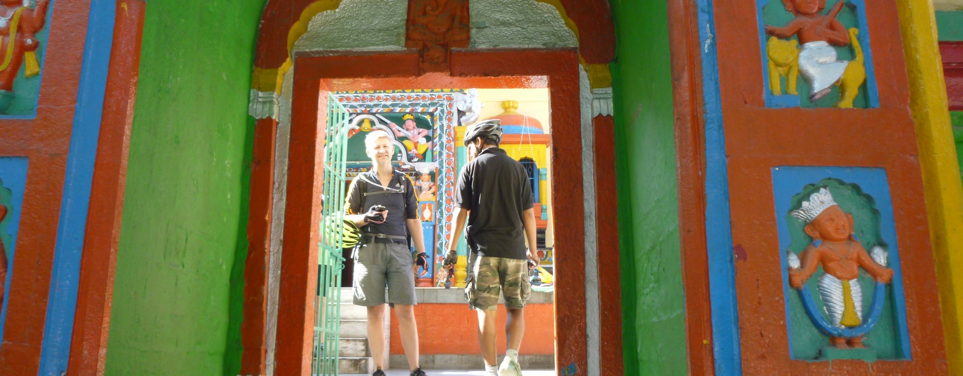 Temple visit on the Himalayan Hill-Stations ride