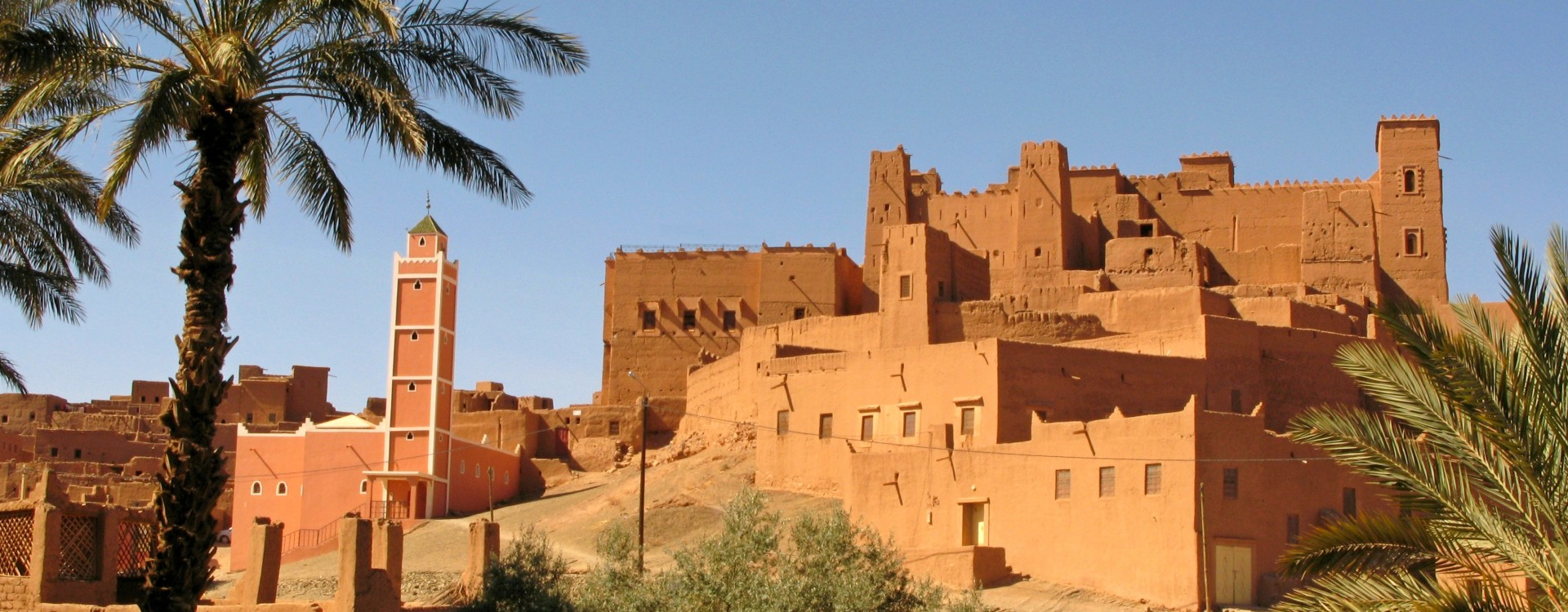 One of the impressive kasbahs in the Draa Valley