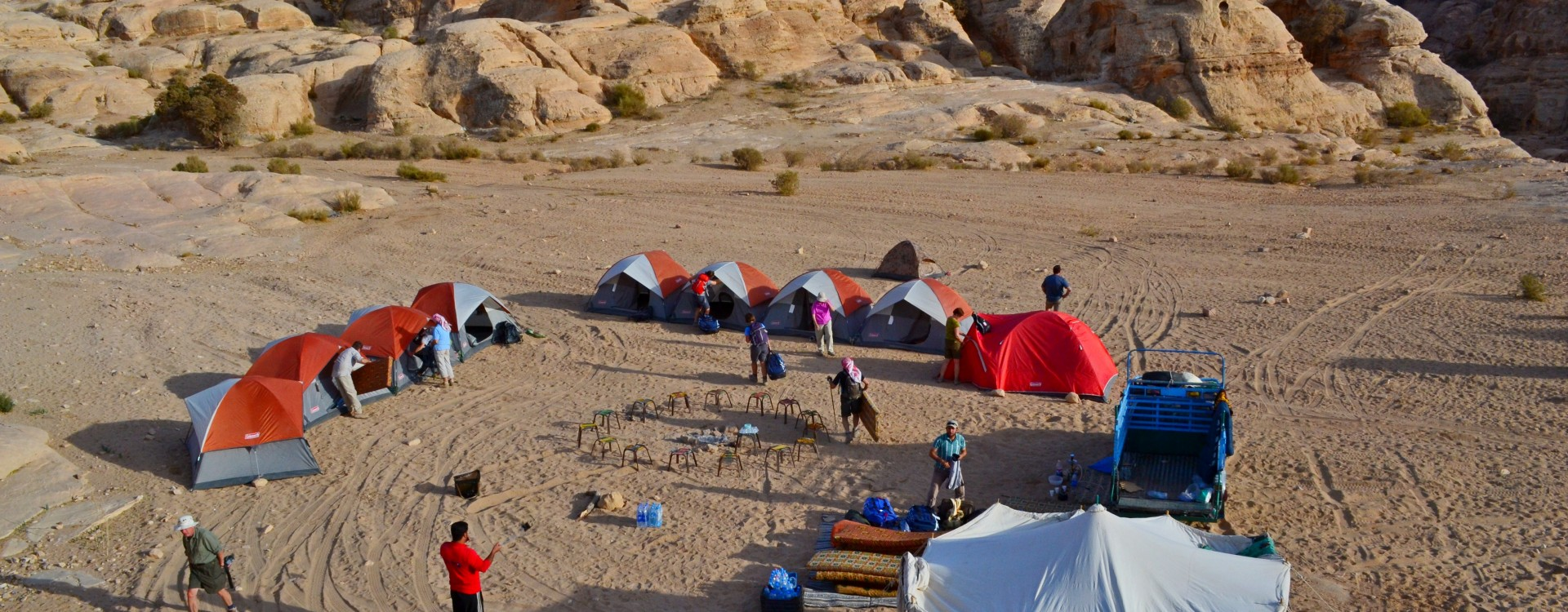 Camping on the Dana to Petra Trek