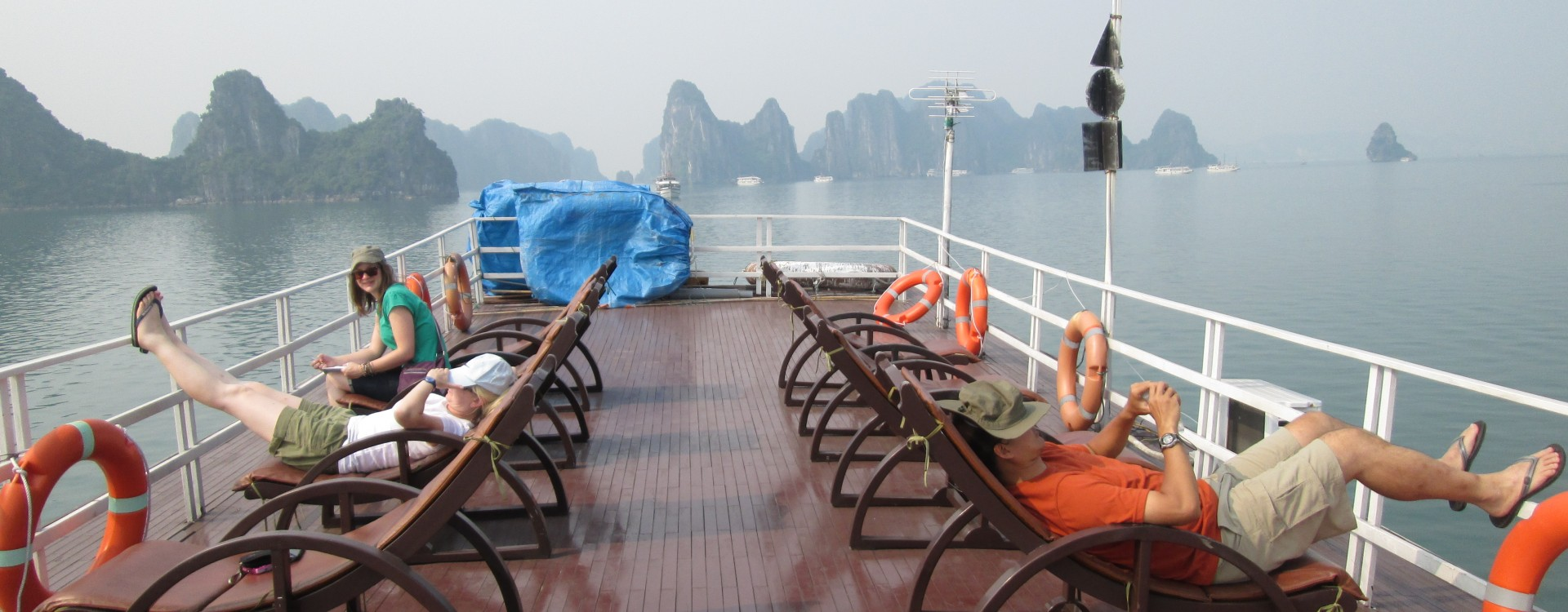 On the sundeck, Halong Bay