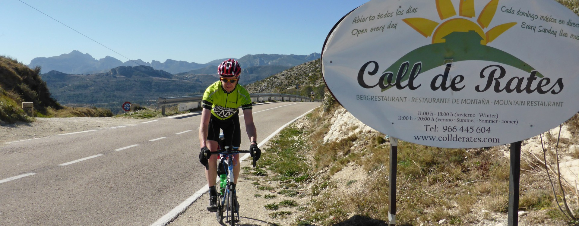 Amos at the Coll de Rates