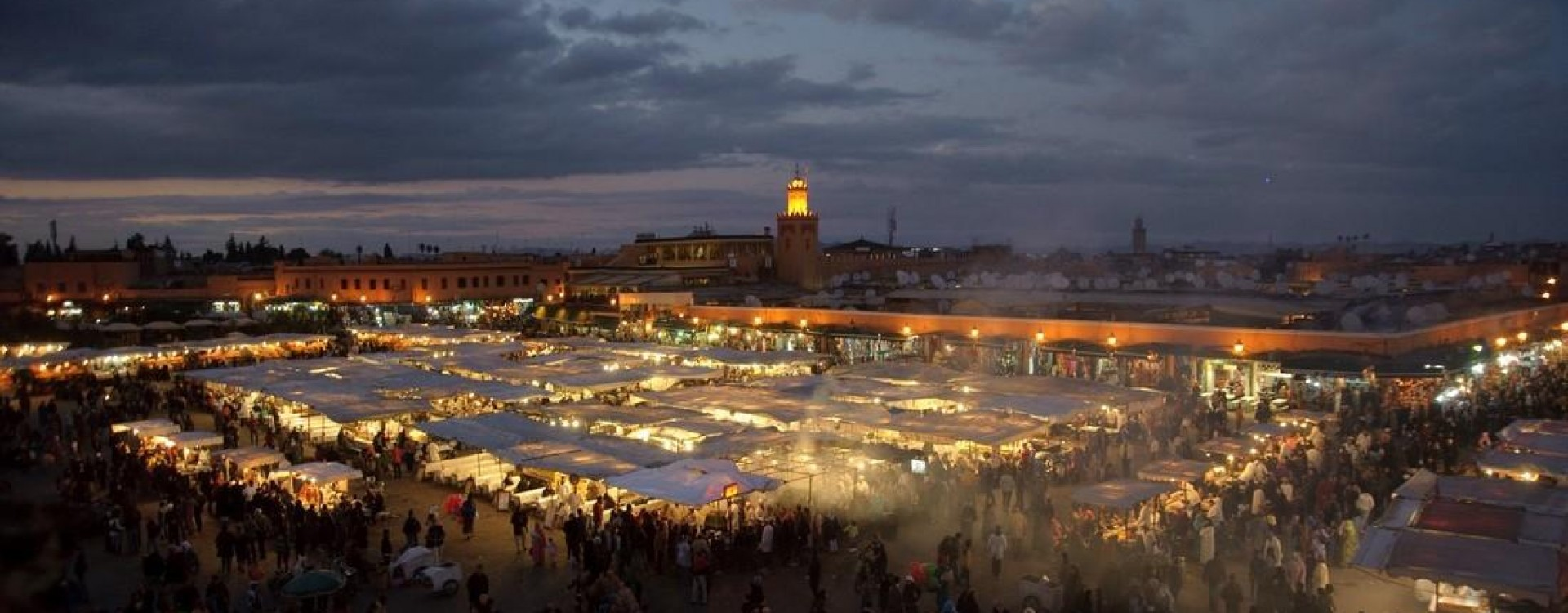 Marrakech at sunset