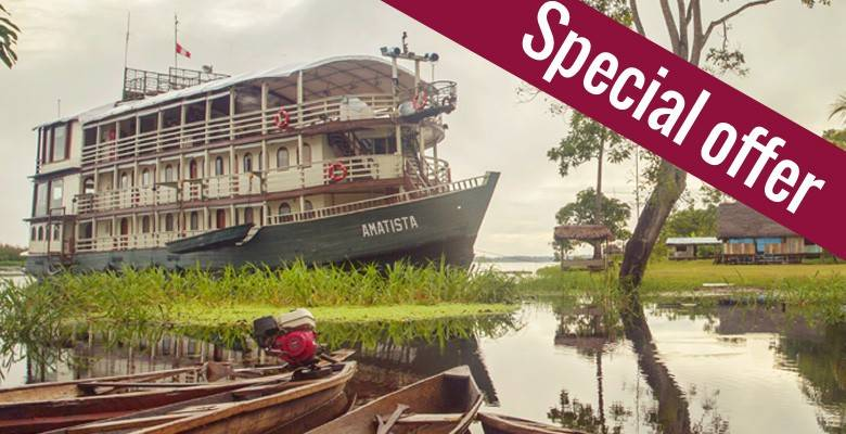Cruise the Amazon aboard a beautiful river boat